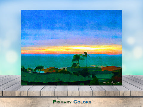 Primary Colors Wrapped Canvas Print