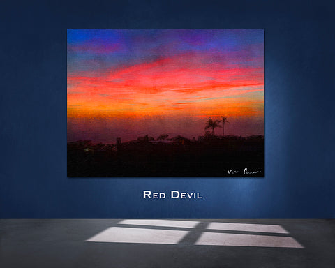 Red Devil Wall Print 60x40