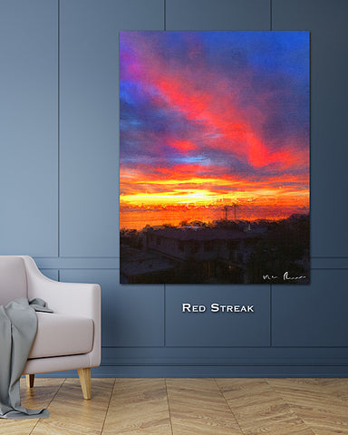Red Streak Wall Print 40x60
