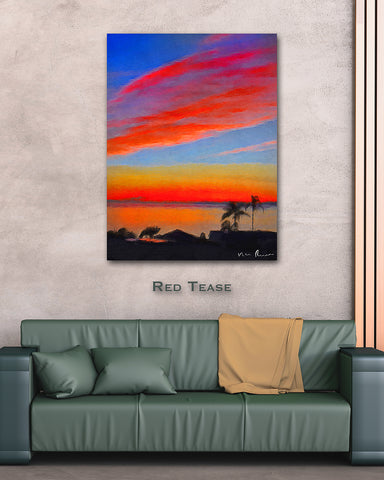 Red Tease Wall Print 40x60