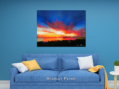 Scarlet Fever Wall Print 60x40