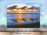Seagull Foursome Wrapped Canvas Print