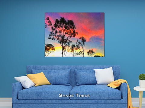 Shade Trees Wall Print 60x40
