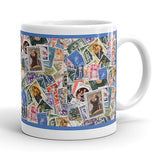 Italian Postal Stamps Collage Coffee Mug