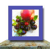 Cherries & Nectarine Wrapped Canvas Print