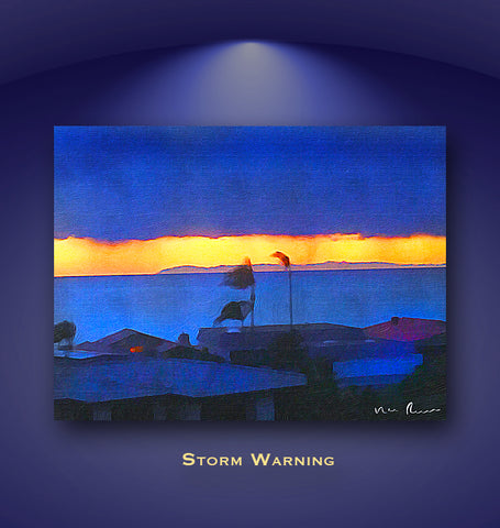 Storm Warning Wall Print 60x40