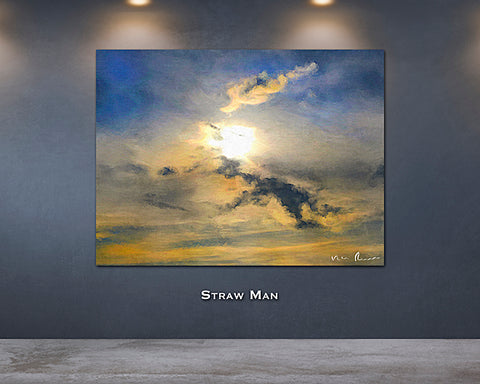 Straw Man Wall Print 60x40