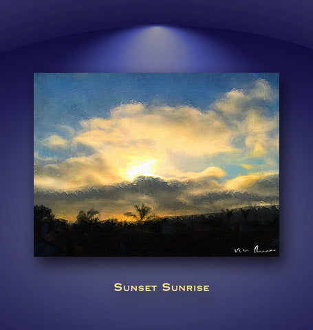 Sunset Sunrise Wall Print 60x40