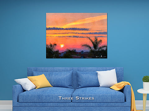 Three Strikes Wall Print 60x40