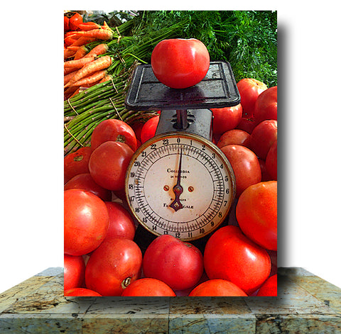 Tomato Scale Wrapped Canvas Print