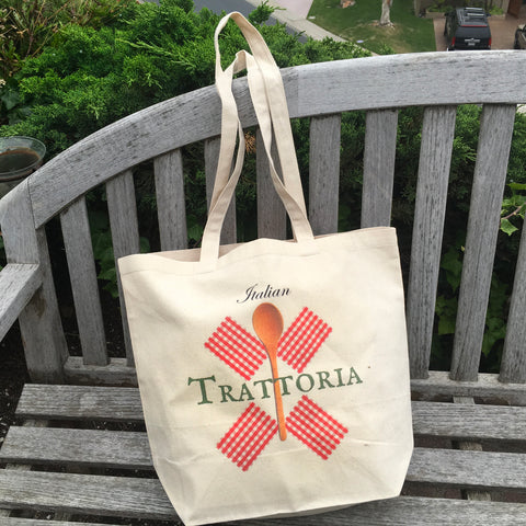 Italian Trattoria Market Canvas Bag