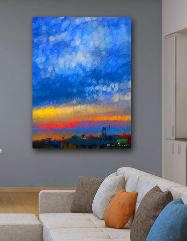 Twilight Blues Wall Print 40x60