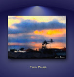 Twin Palms Wall Print 60x40