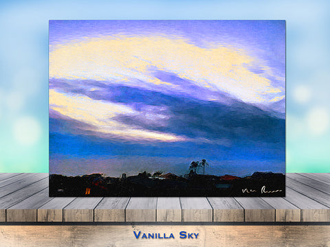 Vanilla Sky Wrapped Canvas Print