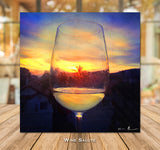 Wine Salute Wrapped Canvas Print 16x16