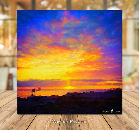 Winter Palette Wrapped Canvas Print 16x16