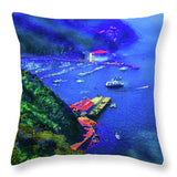 Avalon Blues - Throw Pillow