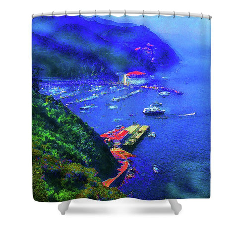 Avalon Blues - Shower Curtain