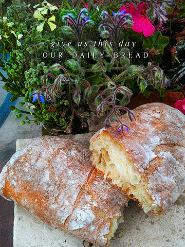 Daily Bread Wrapped Canvas Print