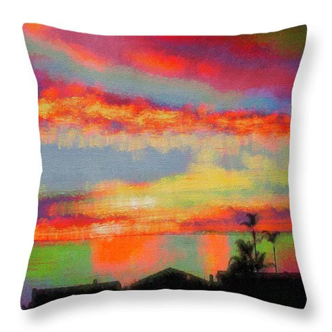 Brushstrokes - Throw Pillow