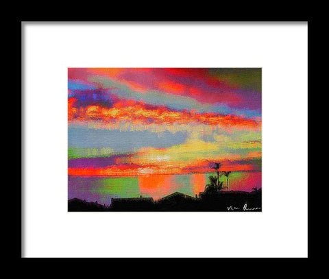 Brushstrokes - Framed Print
