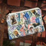 Italian Vintage Stamps Cosmetic Bag