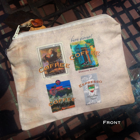 Italia Coffee Labels and Hotels Travel Bag