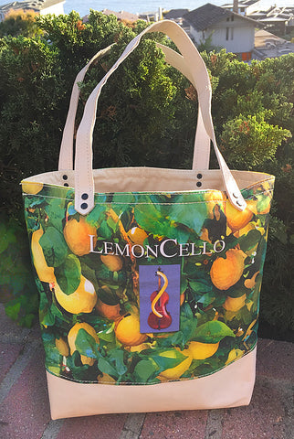 Mercato Canvas/Leather Bag — Lemoncello