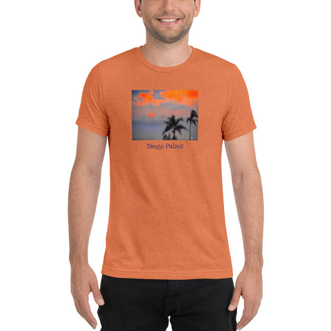 Tango Palms Orange Short Sleeve T-shirt