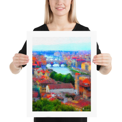 Arno River in Florence Archival Print
