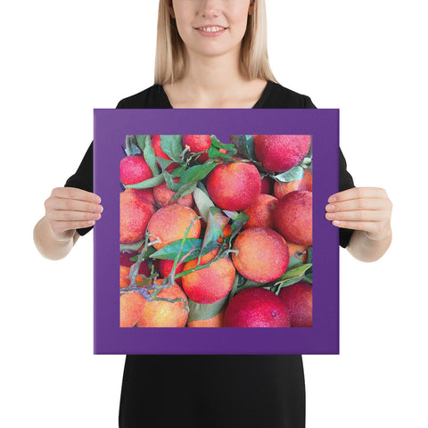 Blood Oranges Wrapped Canvas Print