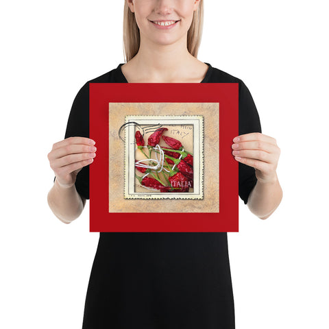 Italian Hot Chili Stamp Archival Luster Print