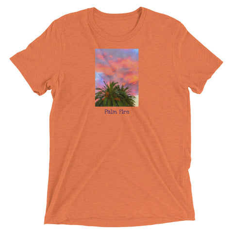 Palm Fire Orange Short Sleeve T-shirt