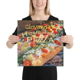 Custom Name Homemade Pizza Wrapped Canvas Print