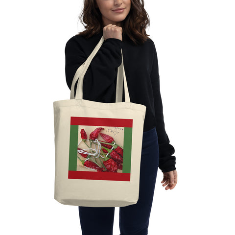 Lemons & Chilis Organic Tote Bag