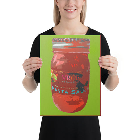 Cucina Style Pasta Sauce Wrapped Canvas Print