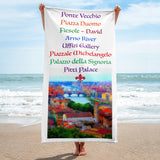 Florence Tourist Beach Towel