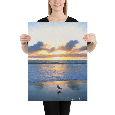 Water's Edge Wrapped Canvas Print