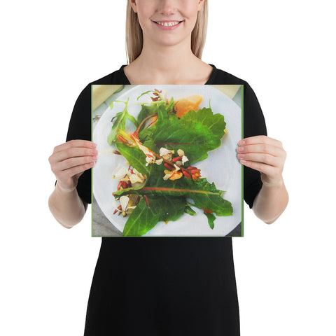 Arugula Salad Wrapped Canvas Print