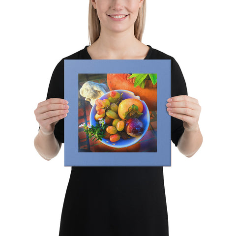 Fruit Bowl Wrapped Canvas Print