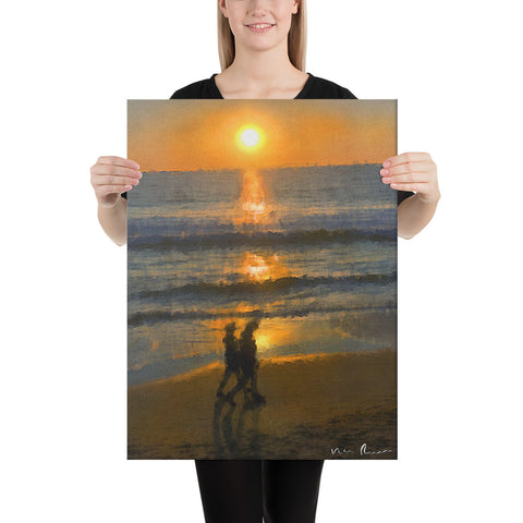 Twosome Wrapped Canvas Print