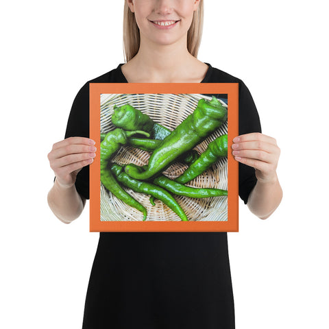 Italian Green Peppers Wrapped Canvas Print