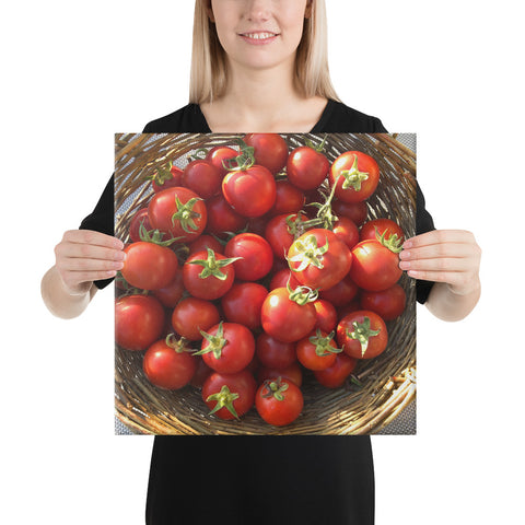 Cherry Tomato Basket Wrapped Canvas Print