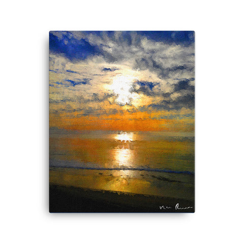 Beach Front Wrapped Canvas Print