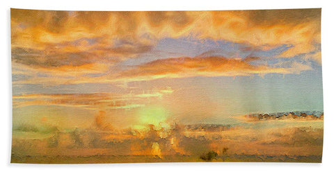 Painter's Landscape - Bath Towel