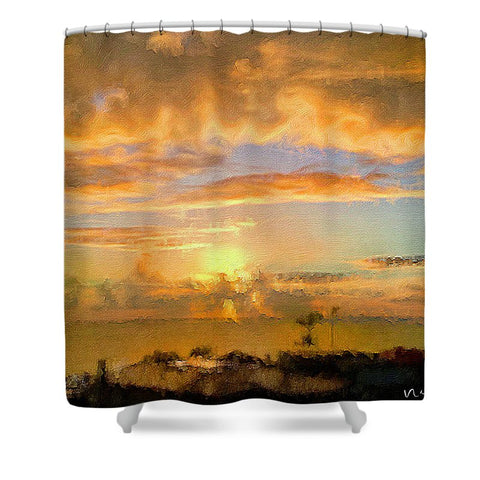Painter's Landscape - Shower Curtain