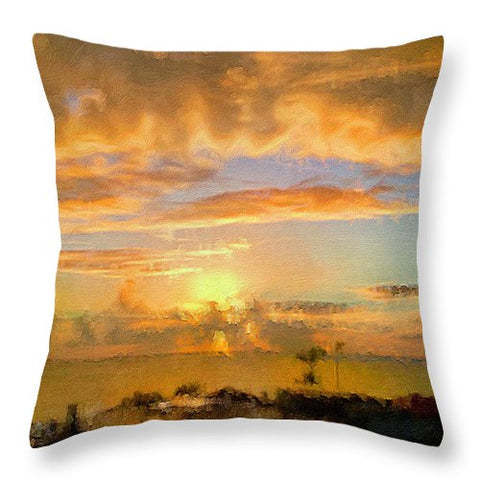 Painter's Landscape - Throw Pillow