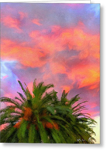 Palm Fire - Greeting Card
