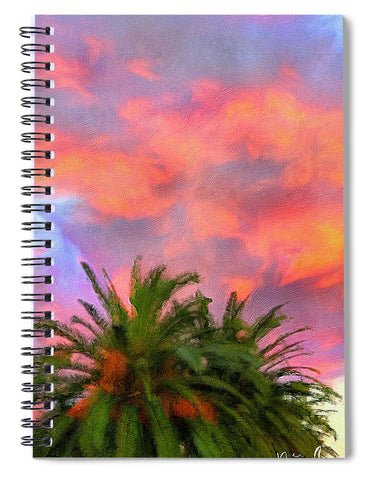 Palm Fire - Spiral Notebook