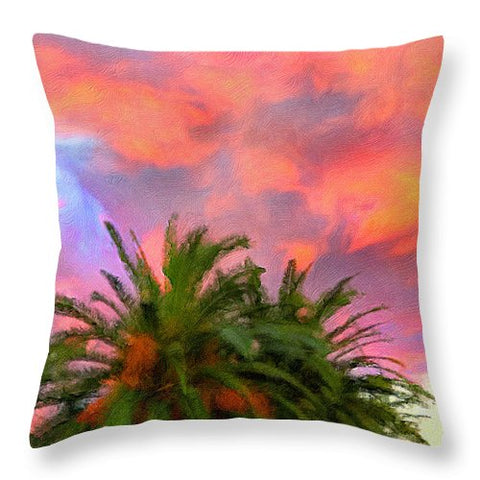 Palm Fire - Throw Pillow